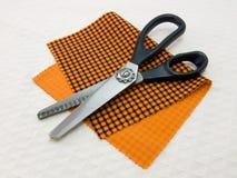 Schaar van naaister voor het in orde maken van rand stock afbeelding
