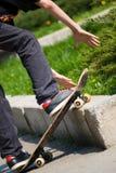 Schaatser die een sprong doet Stock Fotografie