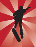 Schaatser Kickflip royalty-vrije illustratie