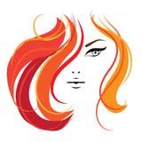 Schablone das Gesicht der Frau für Ihr Design Lizenzfreies Stockbild