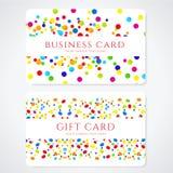 Schablone der bunten Geschäfts-/Geschenkkarte. Zusammenfassung Lizenzfreie Stockfotografie