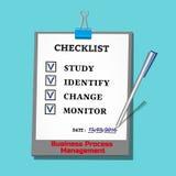 Schablone der Checkliste Stockfoto