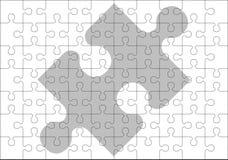 Schablone der Puzzlespielstücke Stockbilder