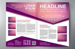 Schablone der Seiten a4 des Broschürendesigns zwei Lizenzfreie Stockfotos