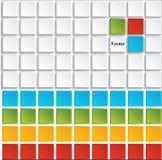 Schablone des modernen Designs oder Websiteplan Information-Grafiken Vektor Stockbild