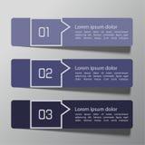 Schablone des modernen Designs vom Papier und von den Zeigern Lizenzfreie Stockfotografie