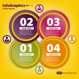 Schablone des modernen Entwurfs für infographics Lizenzfreies Stockfoto