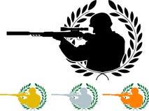 Schablone des Scharfschützen Lizenzfreie Stockfotos