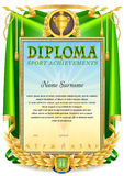 Schablone des Sport-Diplomfreien raumes Lizenzfreies Stockbild