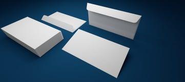 Schablone des Umschlags Lizenzfreies Stockbild