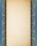 Schablone des unbelegten Papiers der Weinlese Stockbild