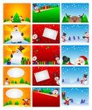 Schablone des Weihnachtshintergrundes Lizenzfreie Stockfotos