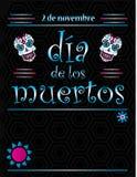 Schablone Dia de Los Muertos Poster vektor abbildung