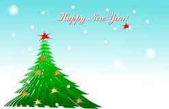 Schablone einer Weihnachtskarte Lizenzfreie Stockbilder