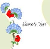 Schablone einiger Blumen Lizenzfreies Stockbild