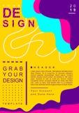 Schablone für das Entwerfen von Plakaten mit Hintergrundfarbe lizenzfreie abbildung
