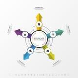 Schablone für das Radfahren von Infographic Die goldene Taste oder Erreichen für den Himmel zum Eigenheimbesitze Vektor Lizenzfreies Stockfoto