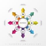 Schablone für das Radfahren von Infographic Die goldene Taste oder Erreichen für den Himmel zum Eigenheimbesitze Vektor Lizenzfreies Stockbild