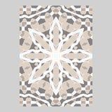Schablone für den Gruß und die Visitenkarten, Broschüren, Abdeckungen Orientalisches Muster mandala Lizenzfreies Stockbild