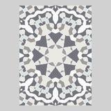 Schablone für den Gruß und die Visitenkarten, Broschüren, Abdeckungen Orientalisches Muster mandala Lizenzfreie Stockbilder