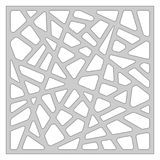 Schablone für den Schnitt Abstrakte Zeile Muster Laser-Schnitt Verhältnis1:1 Lizenzfreie Stockfotografie