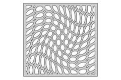 Schablone für den Schnitt Gewundenes Muster des Kreises Laser-Schnitt Verhältnis1:1 Stockfotografie