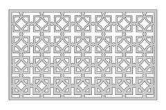 Schablone für den Schnitt Quadratisches Wiederholungsmuster Laser-Schnitt Verhältnis1:2 Stockbilder