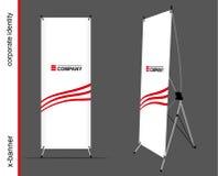 Schablone für die Werbung und Unternehmensidentitä5 Werbungsxfahne Modell für Design Stockfoto
