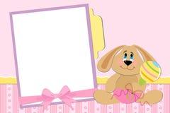 Schablone für Fotoalbum des Schätzchens Stockbild