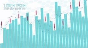 Schablone für Geschäft Finanz-infographics Handelszeitplan mit den steigenden und fallenden Verkaufskaufpreisen Kerzenlinie Stock stock abbildung