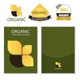 Schablone für Geschäftsgestaltungsarbeiten nave Broschüre organisch und Aufkleber Vektor stock abbildung