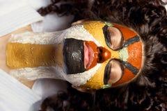 Schablone für Gesicht Stockbild