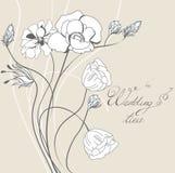 Schablone für Hochzeitseinladung Stockfoto