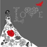 Schablone für Hochzeitskarte Lizenzfreie Stockfotografie