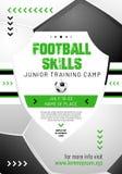 Schablone für Ihr Fußball- oder Fußballdesign mit Beispieltext Lizenzfreie Stockfotografie