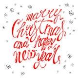 Schablone für Jahreszeit und Weihnachtsentwurf, Grußkarten, Einladungen und Dekorationen, Farbe, handgemacht vektor abbildung