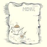 Schablone für Kaffeemenü Stockbilder