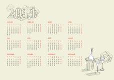 Schablone für Kalender 2011 Stockfotos