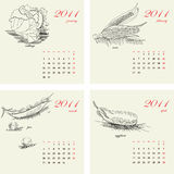 Schablone für Kalender 2011 Lizenzfreies Stockfoto