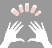 Schablone für Nagelkunst Lizenzfreies Stockbild