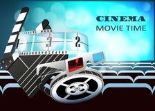 Schablone für Plakat, Website und on-line-Film Kracherspulendetails des Filmes Lizenzfreie Stockfotografie