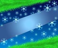 Schablone für Text karte Weihnachtshintergrund mit Tannenzweigen Stock Abbildung