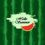 Schablone für Text Wassermelonenhintergrund Stockbilder
