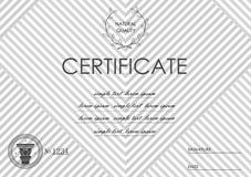 Schablone für Zertifikat Stockfotos