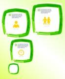 Schablone-Flieger-grün-Blase-Effekt-Farbe-Bürste Stockbild