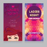 Schablone für Damennachtpartei Stockfotografie