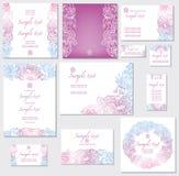 Schablone für Hochzeitskarten Lizenzfreie Stockbilder