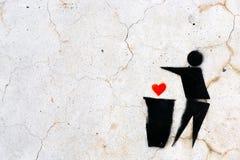 SCHABLONE-GRAFFITI Stockfoto