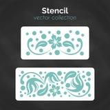 schablone Laser-Schablone Muster für dekorative Platte Lizenzfreie Stockfotografie