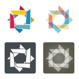 Schablone mit abstrakter Sternsammlung Lizenzfreie Stockbilder
